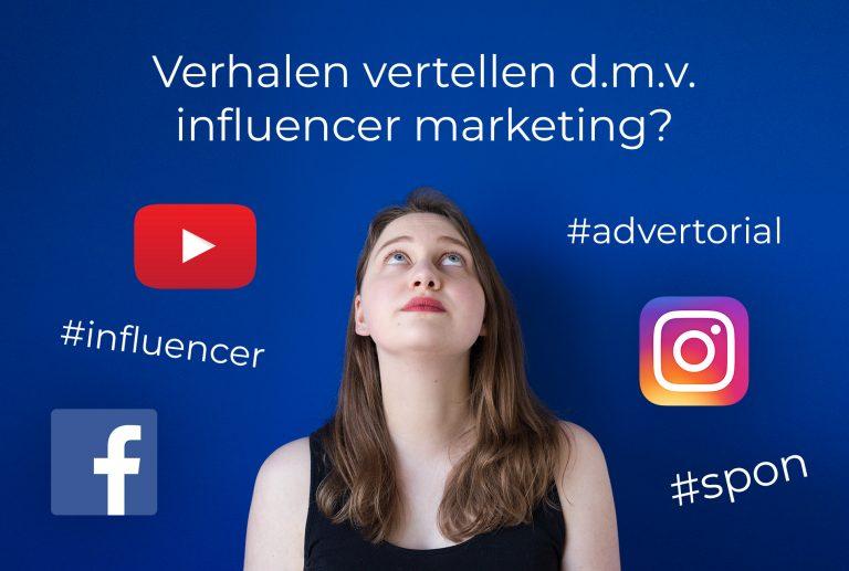 Afbeelding verhalen vertellen met influencer marketing